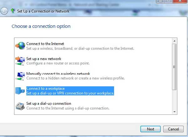 2 - How to create manual vpn connection in windows 7